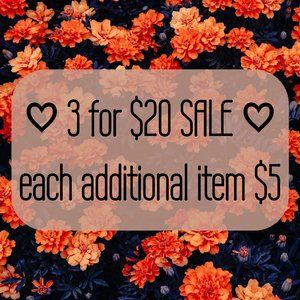 ♡ 3 items for $20 SALE ♡